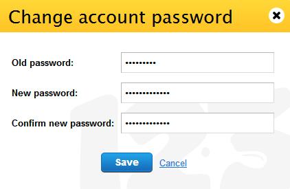 123ContactForm change password