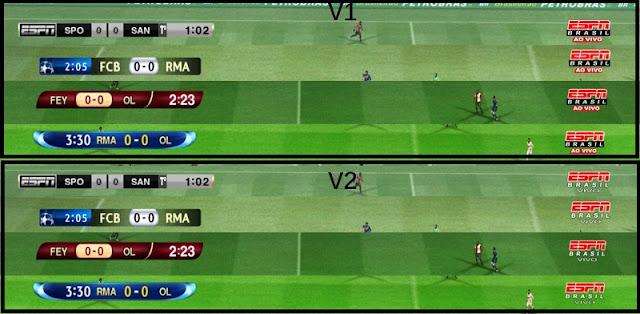 Scoreboard ESPN Brasil - PES 2012