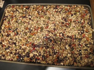 baking homemade granola bars