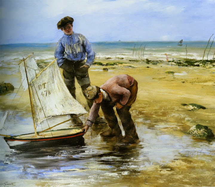 Norbert Goeneutte - Enfants jouant sur la plage