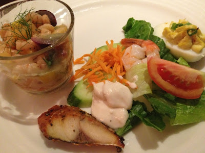 Lady's first plate at Petals Restaurant, Rose Rayhaan by Rotana