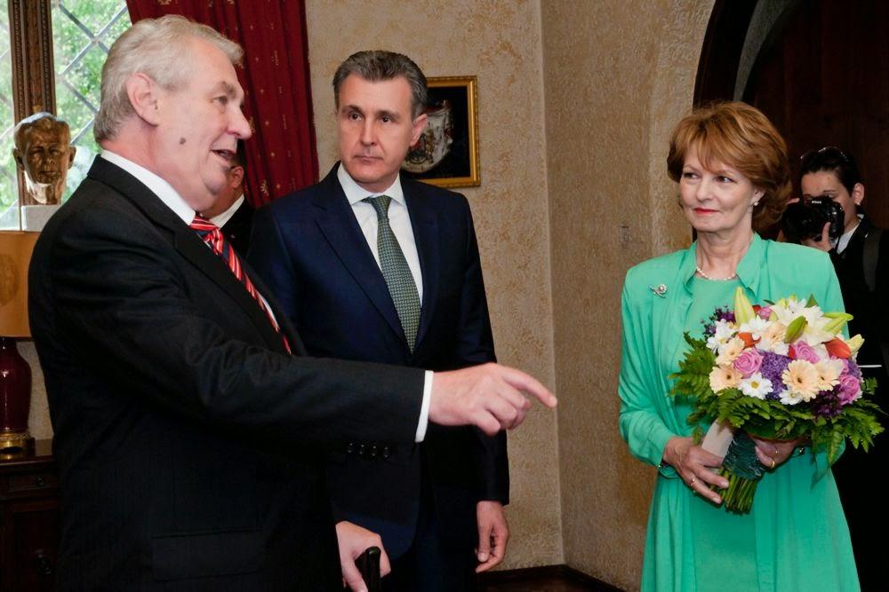 Imagini cu vizita Președintelui Republicii Cehe la Familia Regală a României