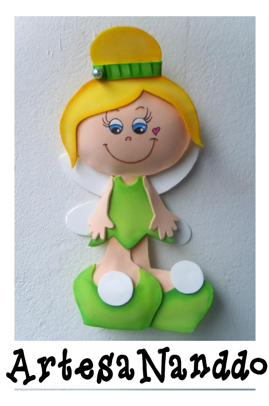 Tinker Bell (Sininho) e Peter Pan - EVA 2D.