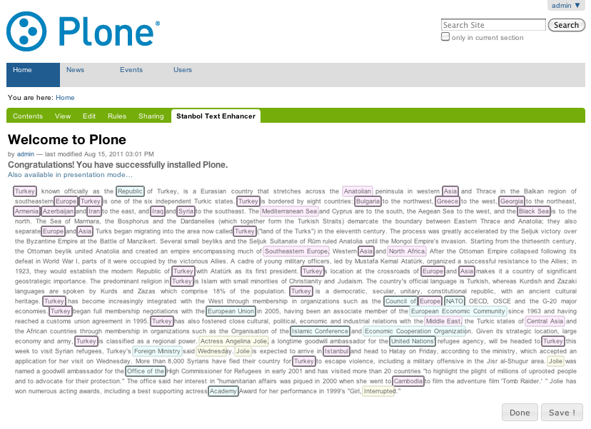 Webvie within Plone in action