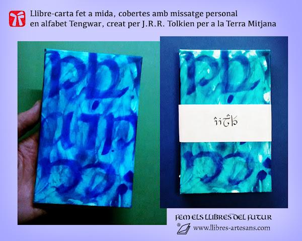 Cobertes manuscrites en Tengwar, llibre carta personalitzat