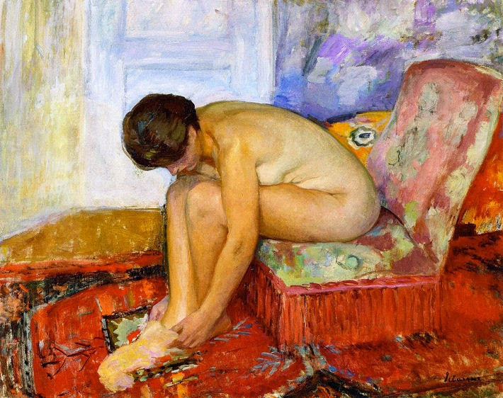 Henri Lebasque - Female nude seated