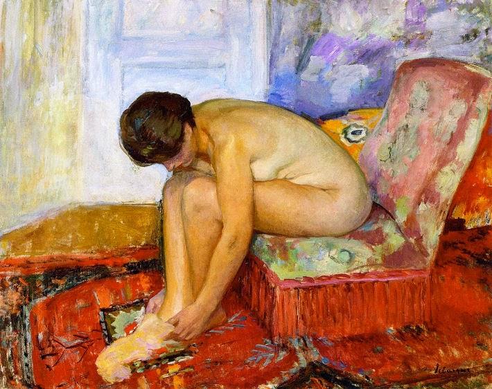 Henri Lebasque - Female nude seated