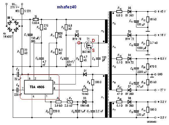 Será que daria pra modificar e criar uma fonte para amplificadores Power+tda4605