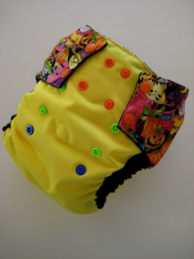 Trick or Treating Cats OS diaper