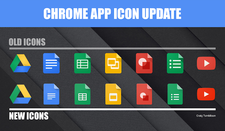 New app icons in Chrome
