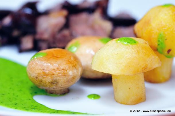 Ciuperci si cartofi