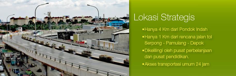 Lokasi Strategis hanya 4Km dari Pondok Indah