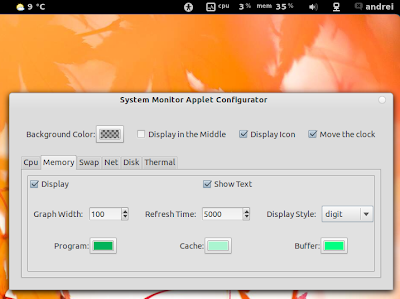 GNOME Shell system monitor