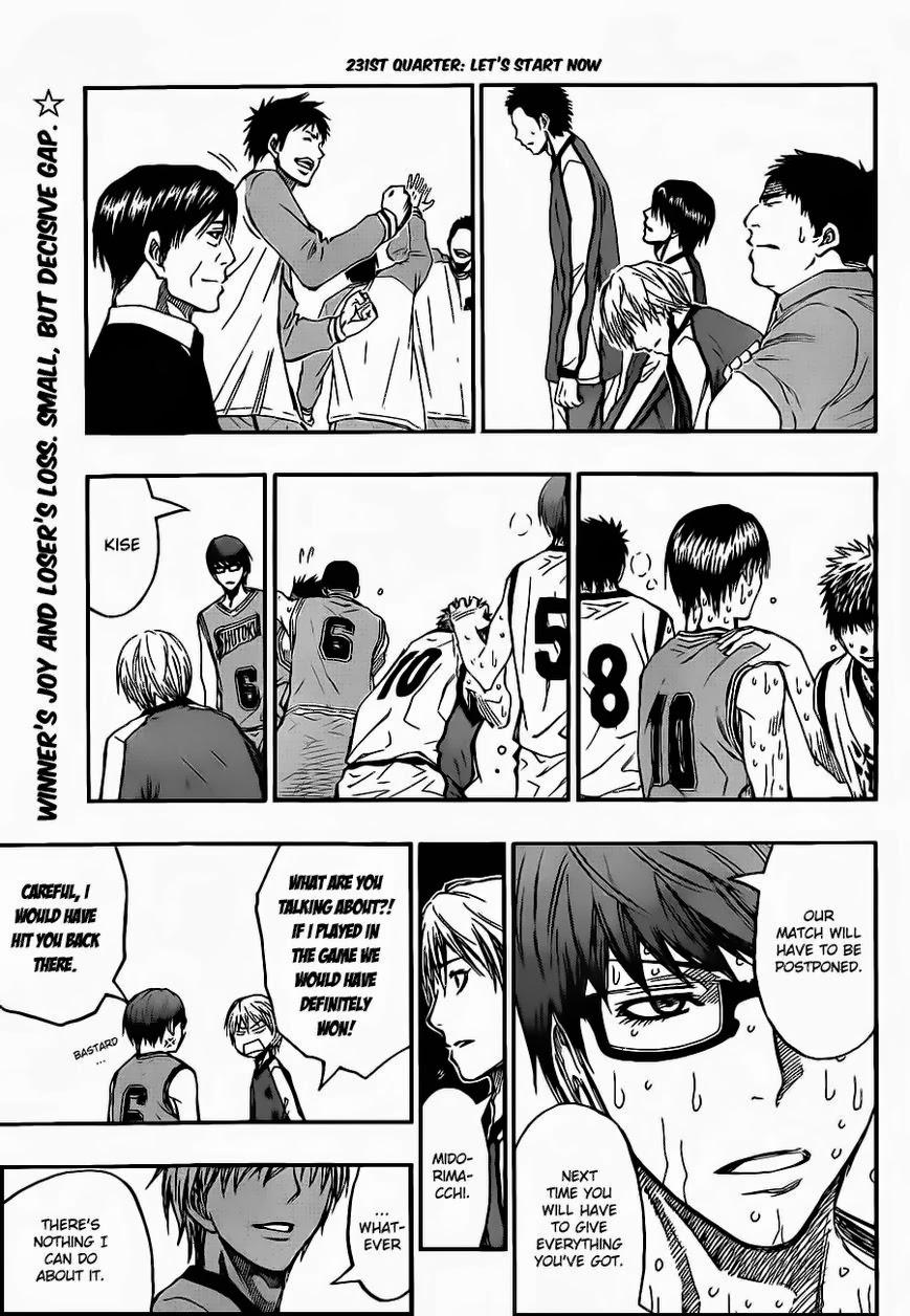 Kuroko no Basket Manga Chapter 231 - Image 04