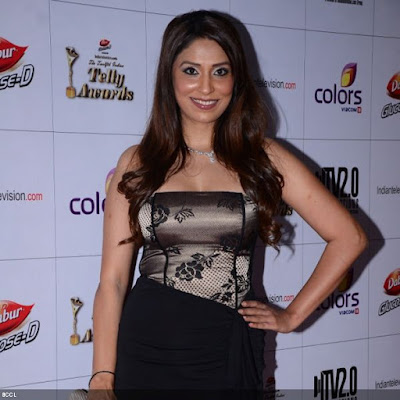 Pooja Misrra during the 12th Annual Indian Telly Awards, held in Mumbai.