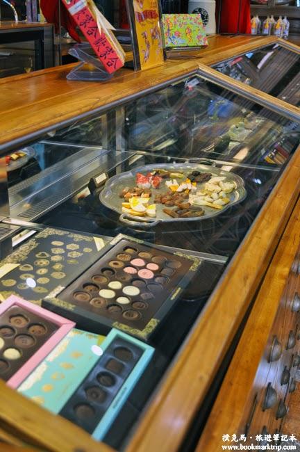 宮原眼科保鮮櫃裡的高級巧克力