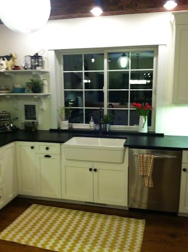 Finished kitchen soapstone counter tops, soapstone windowsill