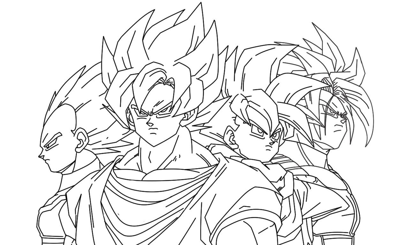 Imagenesde99 Imagenes De Dragon Ball Z Para Colorear De Goku