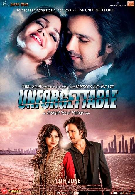 Poster Of Hindi Movie Unforgettable (2014) Free Download Full New Hindi Movie Watch Online At Alldownloads4u.Com