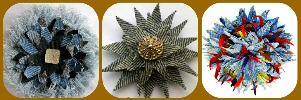 Tsvety iz dzhinsovoy tkani