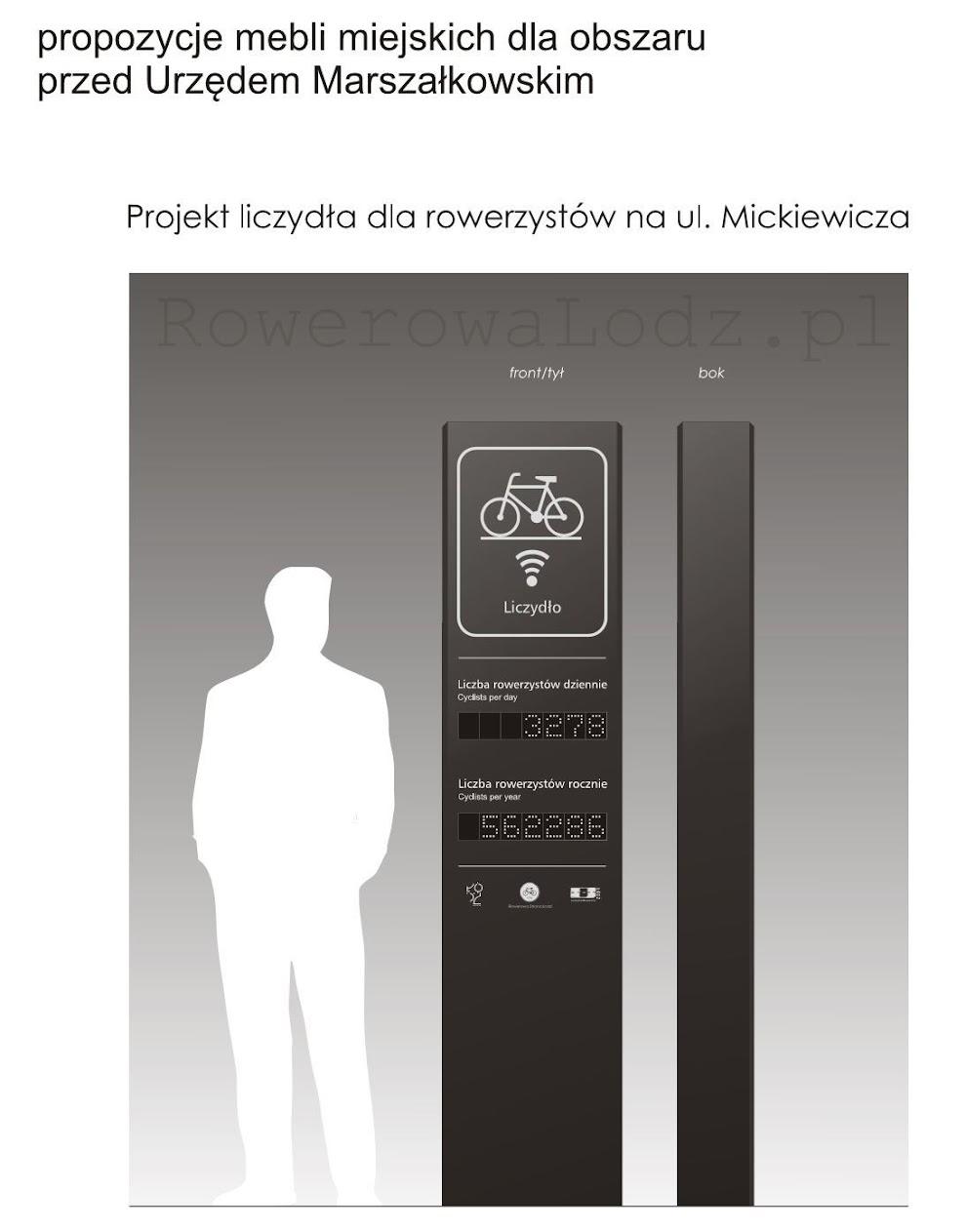 Nieco bliżej Piotrkowskiej ma powstać urządzenie do zliczania rowerzystów. Niech Was nie zmyli opis, nadal to al. Piłsudskiego