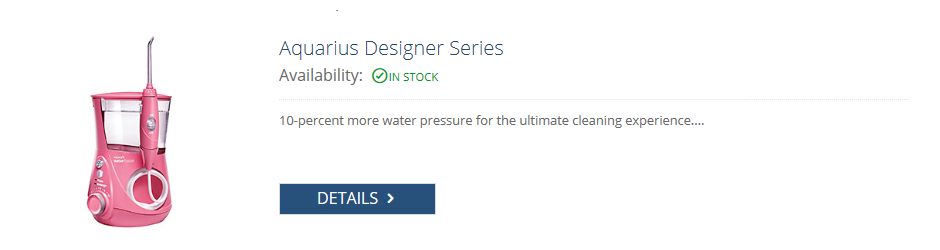 waterpik pink aquarius designer series flosser