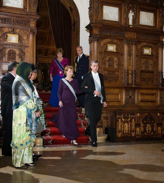 Seară la Castelul Peleș dedicată Corpului Diplomatic - Principesa Margareta, Principele Radu