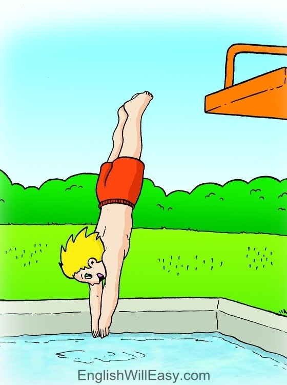 Picture Card For Kids- Verbs- dive