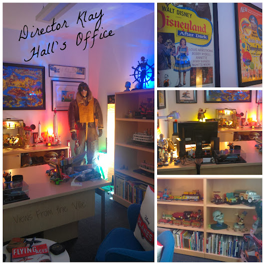 Director Klay Hall's Office at Disney Toon Studios #DisneyPlanesBloggers