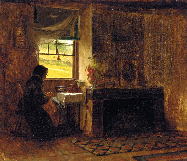 Eastman Johnson - Interior of a Farm House in Maine