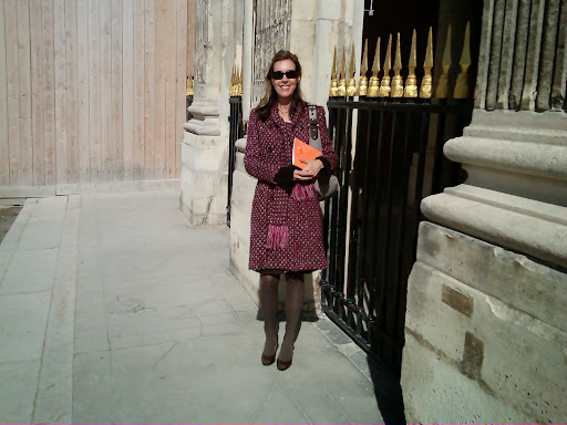 Author at the Palais Royal. From 100 Places in France Every Woman Should Go