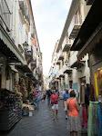 The main pedestrain walking shopping street