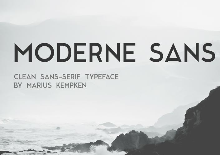 Moderne Sans Free Fonts