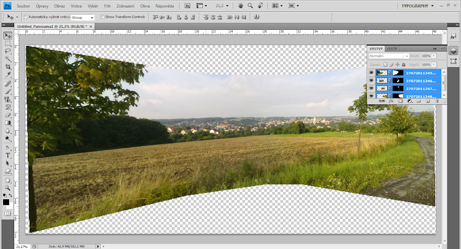 Photoshop - tutoriál - Panoráma