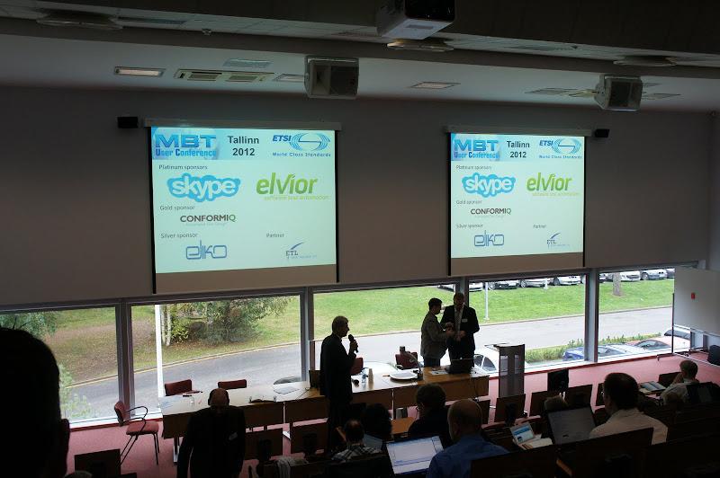 MBT User Conference 2012 sponsors