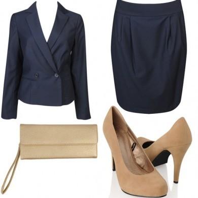 bayan takım etek ceket ve ayakkabı