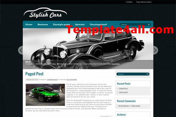 Free Classic Cars Wordpress Theme Template