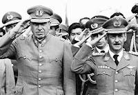 Augusto Pinochet y Videla