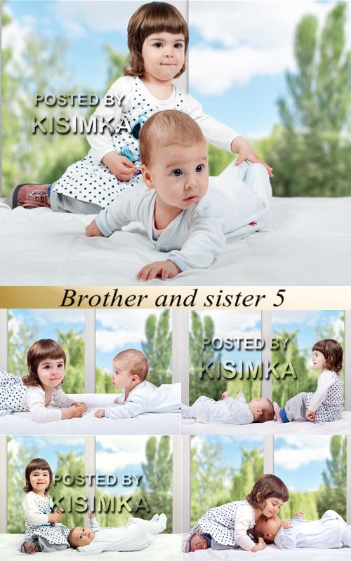 Stock Photo: Brother and sister 5