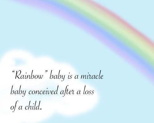 Sydney's Sunrise: Definition of a Rainbow Baby