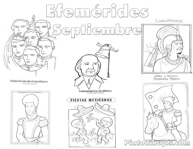 Efemérides Septiembre para colorear