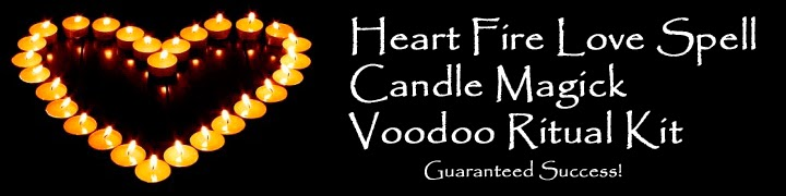 Heart Fire Voodoo Love Spell Candle Magic Kit