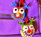 Scrap yarn ideas - Crocheted owls