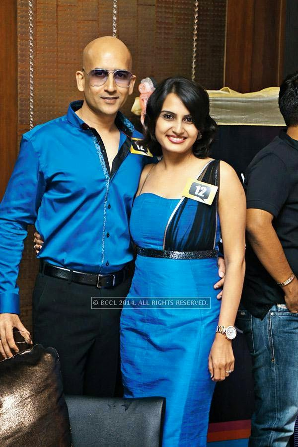 Akashdeep and Shikha during a party, held at a lounge, in Indore.<br />
