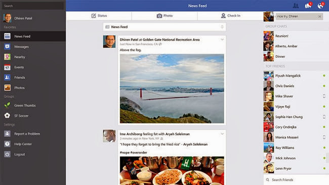 Nueva actualización de Facebook para Windows 8.1: más opciones para no tener que recurrir a la web