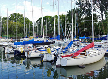 J/27 sailboat fleet- ready to go sailing on Lake Ontario