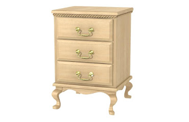 queen anne nightstand with drawers