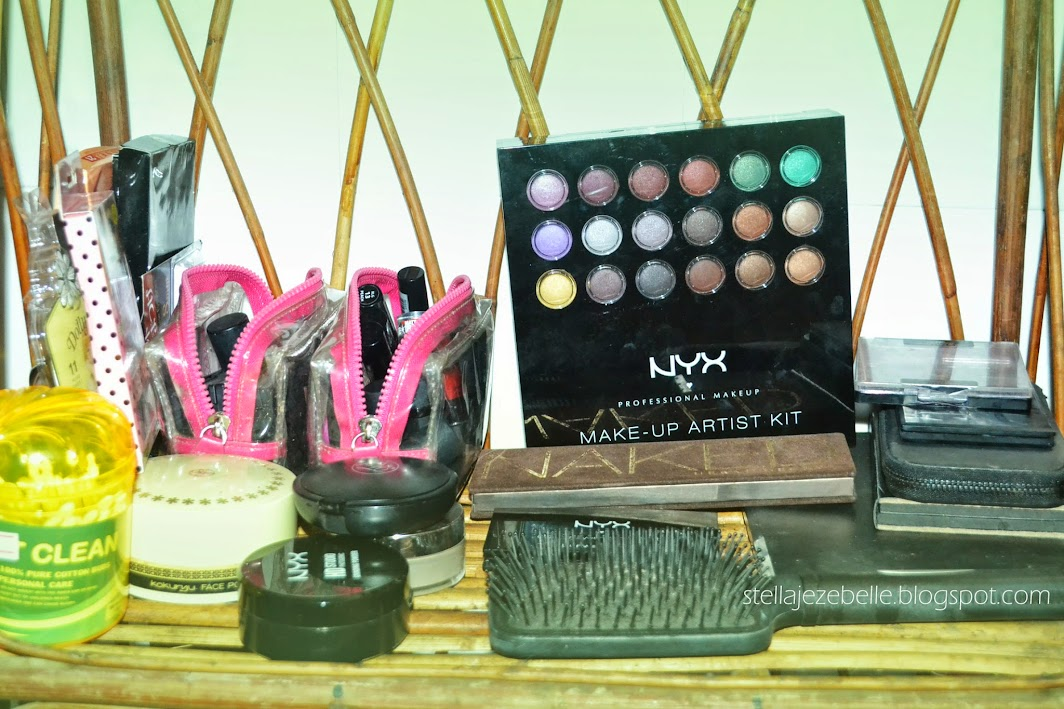 vanity table,makeup table, vanity set up, makeup set up, makeup collection, phnom penh, rattan, cambodia, asia, expatriate, living in cambodia, NYX