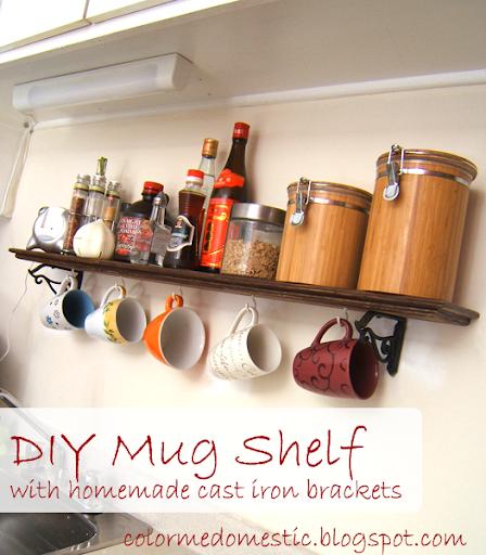 Mug Shelf Kitchen: Color Me Domestic: Kitchen Mug Shelf