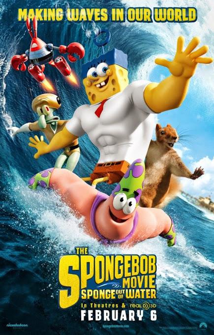 Μπομπ Σφουγγαράκης Εξω απ' τα Νερά του (The SpongeBob Movie: Sponge Out of Water) Poster